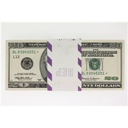 100 Uncirculated Sequential $20 Bills, ($2000 Face Value)