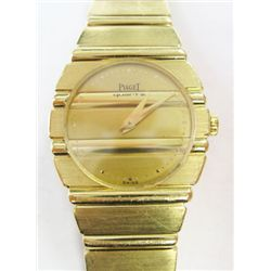 Lady 18K Yellow Gold Round Piaget POLO watch. 23mm. Quartz movement. 6 1/2 long. - Weight: 83.2 gram