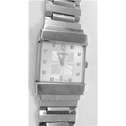 """18k WHITE GOLD CONCORD """"CRYSTALE"""" Watch w/ Diamond dial. 25mm, crystal sapphire, silver diamond dial"""