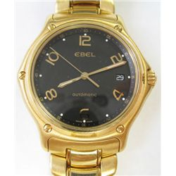 "18K Yellow Gold Ebel ""1911"" watch- Automatic movement with quick date set & second hand- Crystal sap"