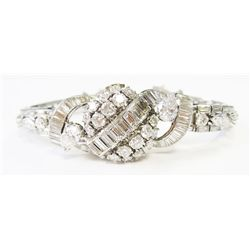 "Art Deco Platinum & approx. 10 carats Diamonds ""Hamilton"" Watch - Hamilton 22 jewels movement, lengt"