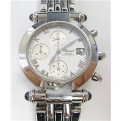 Stainless Steel Chopard Chronograph Imperiale Automatic Watch - 38mm case, white roman dial w/ silve
