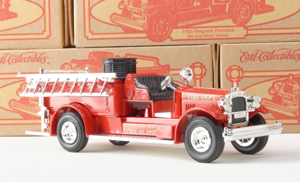 Great lot of 10 Ertl Collectibles Die-cast metal 1926 Seagrave Firetrucks  in their original cardboar