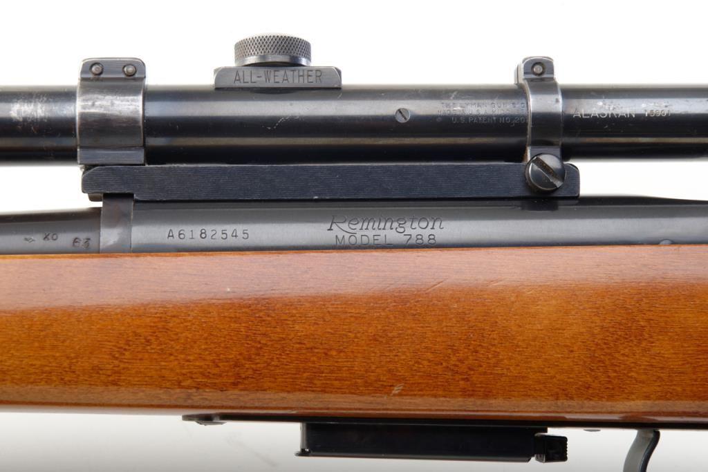 Remington Model 788 Bolt Action Rifle 223 Caliber 24 Blued Barrel Plain Wood Stock Serial A6