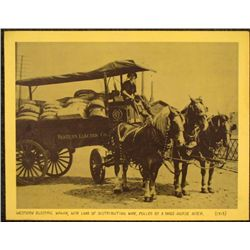 Vint Historical Photograph Western Electric Wagon 1913