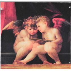 Angeli Florentino Angel Babies Print On Canvas Art