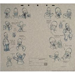 The SIMPSONS Homer Animation Background Drawings Print