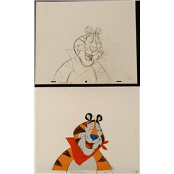 Frosted Flakes Drawing Animation Tony Tiger Cel Orig