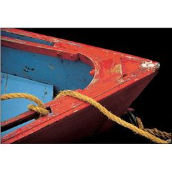 Primarily Red John Peer Art Print Dilapidated Boat