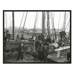 3 Photo Prints of Old Baltimore, Oysters on Bay 1904-07