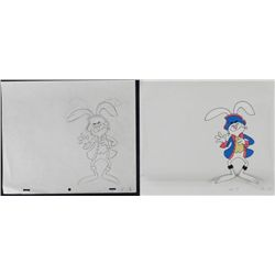 Cel Drawing Original Animation Laughing Trix Rabbit Art