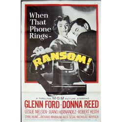 Glenn Ford 1956 Ransom Movie Poster