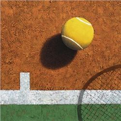 Bill Romero Tennis Ball Sport Art Print