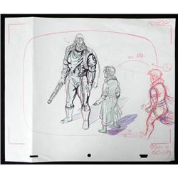 X-Men Original Animation Drawing Tongue Tied