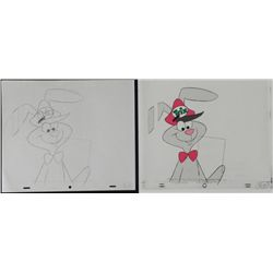 Production Floppy Ears Original Cel Trix Drawing Rabbit