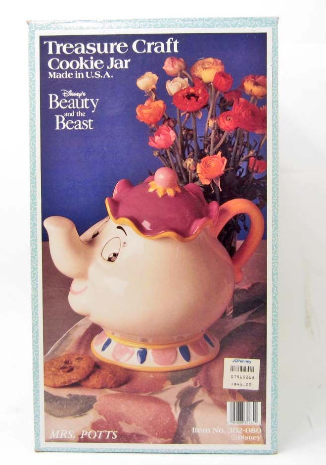 Cookie Jar Beauty And The Beast Disney Mrs Potts