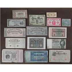 WWII & WWI CURRENCY NOTES FROM GERMANY, DUTCH & JAPAN