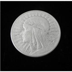 High Grade Poland 10 Zlotych -1932 Silver Maiden Coin