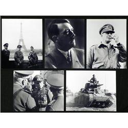 5 WWII Photos w/Hitler, U.S., Rommel, Paris, MacArthur