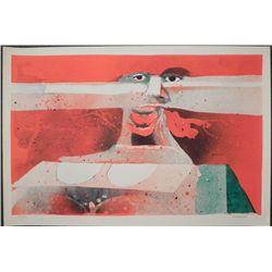 Hans Graeder Signed Artist Proof Print Expressionist