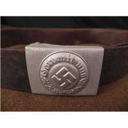 NAZI POLICE GOTT MIT UNS ORIGINAL BELT & BUCKLE VA 418