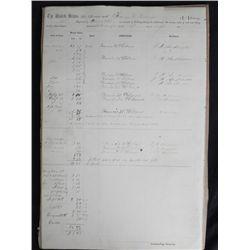 Civil War U.S. Military Soldier Document Signed 1867