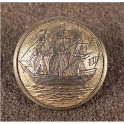 Swedish Antique Military Button Sporrong & Co. Ship