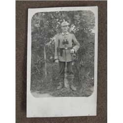 PHOTO OF GERMAN IMPERIAL SOLDIER -ORIGINAL -DATED 1915