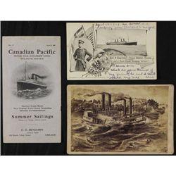 3 Antique Boat Items Scioto Disaster, Kronprinz Wilhelm