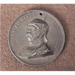 1898 GERMAN OTTO VON BISMARCK DEATH MEDALLION-ORIG-