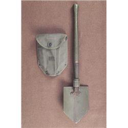 WWII U.S. FOLDING TRENCH SHOVEL W/CANVAS COVER-1944