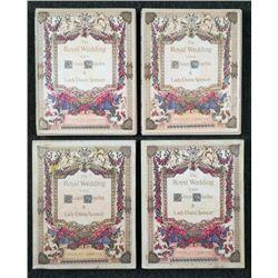 2 Royal Wedding Charles & Lady Diana Full Stamp Albums