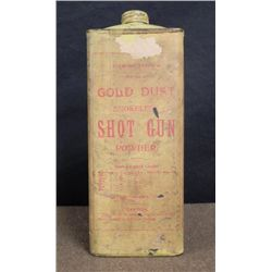 Antique Gold Dust Smokeless Shot Gun Powder Tin USSP Co