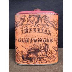 Antique Civil War Gun Powder Tin Eureka Powder Works