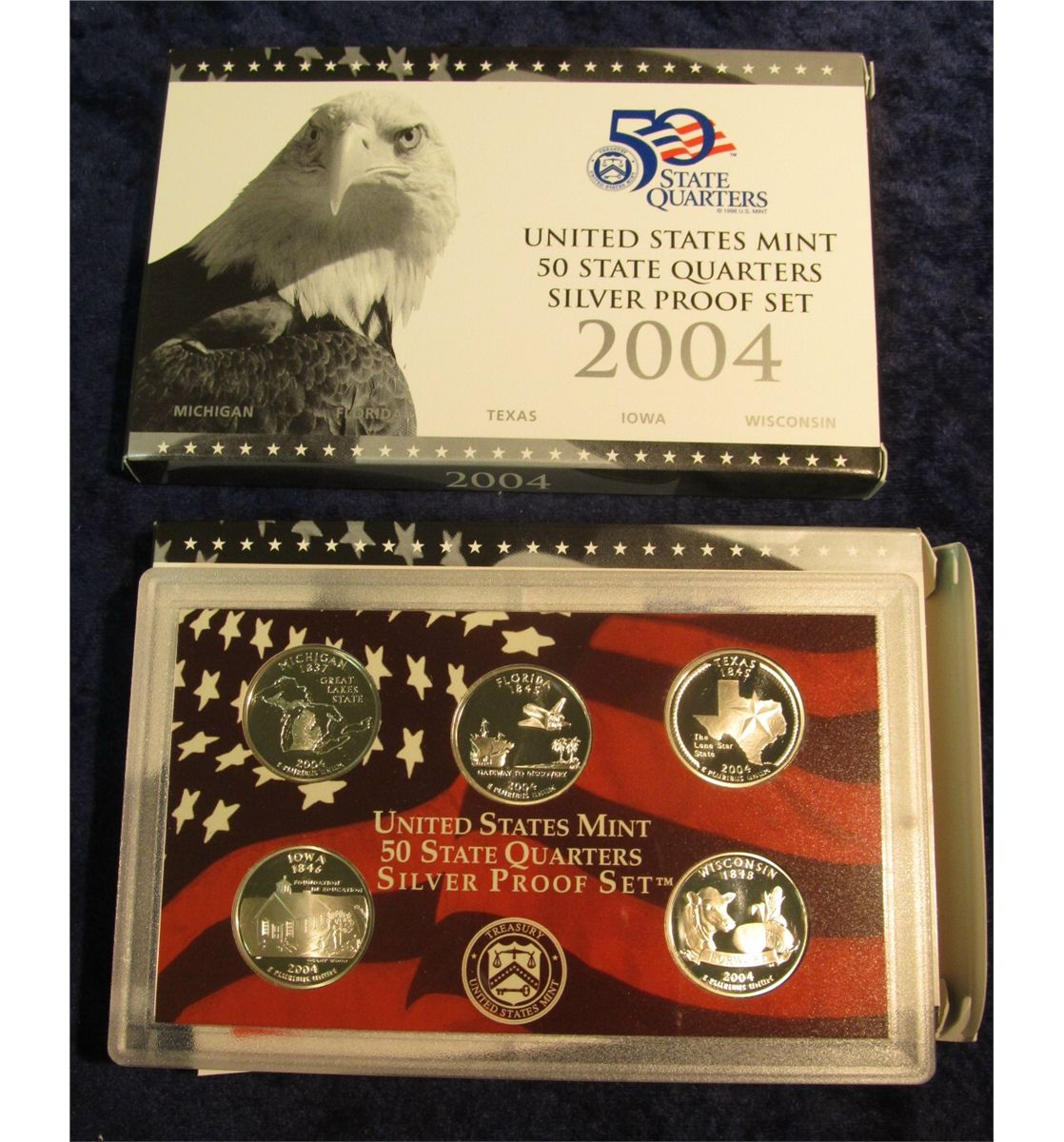 2003 Silver Proof State Quarter 5-pc Set