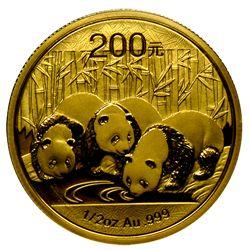 Chinese Panda 1/2 oz gold coins