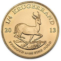 South African Krugerrand 1/4 oz coin (Random Years)