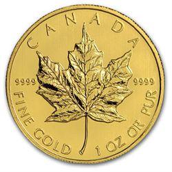 Canadian Maple Leaf 1 Oz Gold Coin (Random Years)
