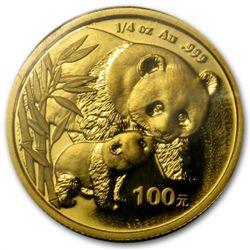 Chinese Panda .25 Oz Gold Coin