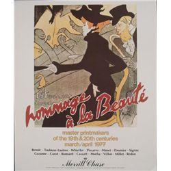 Henri de Toulouse-Lautrec Hommage a la Beaute Poster