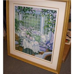 Garden Room By Rios 1987 S/N UNFRAMED Mint!