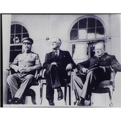 Aluminum Photo Print WWII Roosevelt Churchill Stalin 43