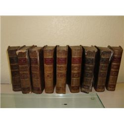 Set of 9 antique French books dated 1807 by Anquetil