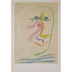 Homage a Rene Char-avant lettre 1969 Picasso Lithograph