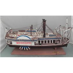 "LARGE MODEL OF A 1850 MISSISSIPPI PADDLEBOAT-22""-GREAT"