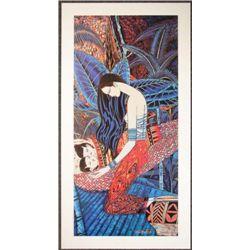 Lot 100 Ting Shao Kuang Yunnan TWINS Chinese Art Poster