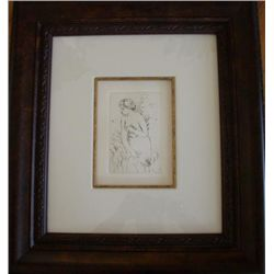 The Bather by Renoir Etching Unframed