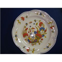 Pair of French hand painted plates by Pornic