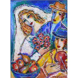 The Wedding By Steynovitz Oil Signed 22x16