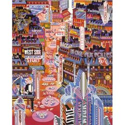 American in Paris by Yamagata Signed Serigraph